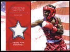 2012 Topps USA Olympics Relic Memorabilia RAU'SHEE WARREN ~ Boxing