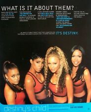 Destiny'S Child 1999 promo Advert The Writing'S On The Wall say my name Beyonce
