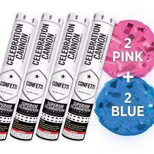 Gender Reveal Confetti Cannon Kit (2 Blue and 2 Pink Cannons)