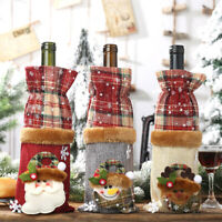 Merry Christmas Wine Bottle Cover Bag Santa Xmas Party Dinner Table Party Decor