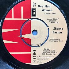 SHEENA EASTON - ONE MAN WOMAN / Summer's Over - EMI 5114 ex-condition A1/B1