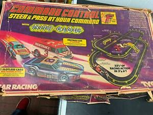 Tyco racing command control Slot Car Race Set Box Vintage 70's Track Controls!