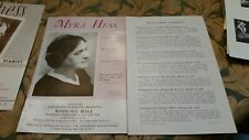 Myra Hess soloist with New Haven Symphony Woolsey Hall Yale Univ.2-2-54