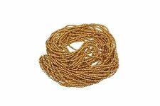 Oro, brillante redonda con cuentas de Costura Bordado Rocaille joyas HAZLO TÚ MISMA Decoración 1 mm