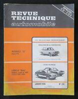 REVUE TECHNIQUE AUTOMOBILE RTA  RENAULT 12 & LANCIA BETA n° 374 1978