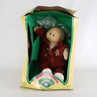 Cabbage Patch Kids 1985  Boy Teddy Beard Coat Red Outfit