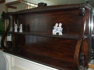 Antique Regency rosewood bookshelf wall shelf, genuine original, very useful