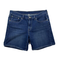 "Levi's Women's Size 30 Denim 32"" Waist Stretch Mid Rise Bermuda Shorts"