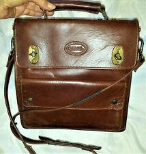 New listing Overland Outfitters Tan Latigo Leather Vintage Messenger Bag Purse Crossbody