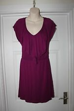 Ladies Striking Purple Stretchy Dress by Velvet Size S Uk 8-12