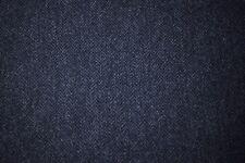 """100% Wool Upholstery Fabric Navy Donegal Irish Herringbone 60""""W Soft Shetland #6"""