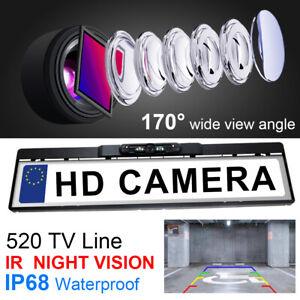 170° IR Night Vision Car Rear View Reversing Backup License Number Plate Camera