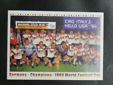 TIMBRES FOOTBALL : MALDIVES BLOC FEUILLET WORLD CUP 1994 NEUF