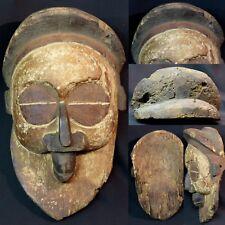 Art Africain masque oiseau très ancien Yaka Congo 40cm patine pigmentation rare