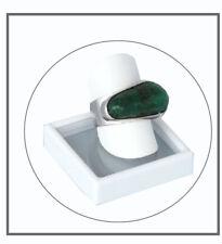 Smaragd 17,5 ct Natur interessantes Grün - Einzigartiger Ring - Silber