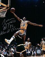 "Norm Nixon Signed 8X10 Autograph Photo ""80 & 82 World Champ"" Silver Lakers w/COA"