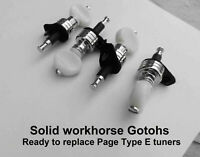 Replacements for Page banjo tuners & other thin shaft tuners. Paramount banjos