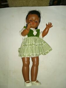 Vintage Ethnic 17-in Horsman Doll Vg-Ex Condition with Original Clothes & Shoes