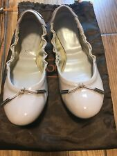 Tods Beige  leather ballet shoes uk 4 eu 36