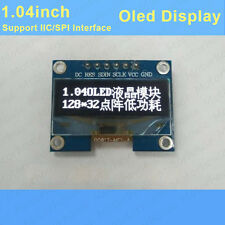 1.04inch White OLED display module 128*32 dot Matrix  IIC SPI SSD1305 F Arduino