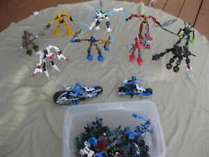 LEGO BIONICLE HUGE LOT 11 FIGURES PLUS EXTRA USED INCOMPLETE