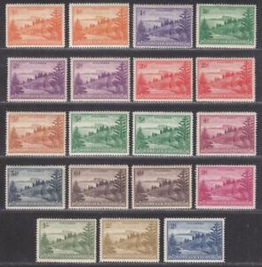 Norfolk Island 1947-59 KGVI Ball Bay Set Mint SG1-12a cat £35+ Australia
