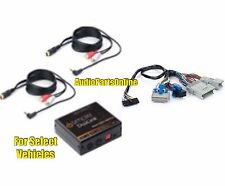 Dual 3.5mm RCA Aux Audio In Input Adapter Interface for select GM Factory Radio