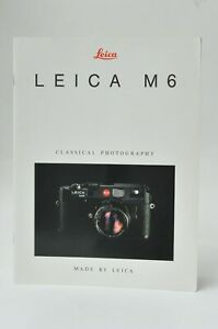 Leica Classical M6 TTL Rangefinder Camera Collectible Brochure