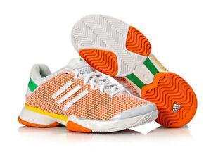 adidas aSMC Barricade Women's Tennis Shoes Orange Stella McCartney NWT Q22144