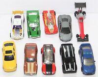 Lot of 10 Diecast Cars Hot Wheels Matchbox Maisto La Fasta VW Golf Lamborghini