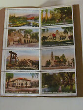 Riverside California Souvenir Picture Stamps Postal Booklet by Cardinell Vincent