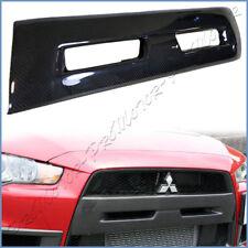 Front Bumper Center Hood Grille For 08-13 Mitsubishi Lancer EVO X Carbon Fiber