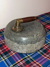 Superb Ailsa Craig 'Blue Hone' Singtel soled Scots Granite Curling Stones c1850