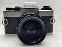 ROLLEIFLEX SL35E Silver Case+ Rolleinar-MC 2,8/35mm Rollei-HFT #7511422 SLR