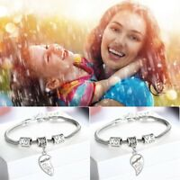 2Pcs Hot Gift Mother And Daughter Jewelry Set Bracelet Heart Bangle