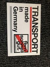 Transport Made In Germany Fern schnell gut Güterfernverkehr Aufkleber 22 x 14 cm
