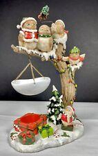 Yankee Candle Hanging Tart Warmer Christmas Owls  Hang Owl Tree P4