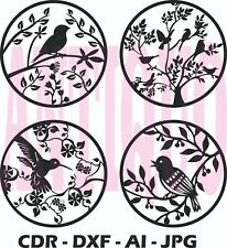 CNC Vector DXF Plasma Router Laser Cut DXF-CDR Vector Files - Hummingbird Pack 4