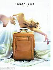 PUBLICITE ADVERTISING 066  2006  les bagages valises Longchamp & Kate MOSS