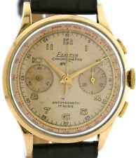Exactus Herrenuhr Chronograph in 750/18k Roségold Handaufzug Schweiz 1950 - 1959