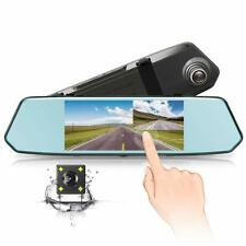 7 inch Dash Cam HD Touch Screen 1080P Vehicle Car Rear View Mirror Parking Camer