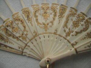Antique Vintage Fan Sticks for Spares or Repair