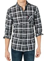 Levi's Mens Shirt Black Size 2XL Button Down Reese Plaid Woven Pocket $54 229