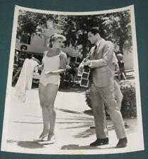 Elvis Presley B/W 8 x 10 Agency Photo Viva Las Vegas 1964 Ann Margret Pool