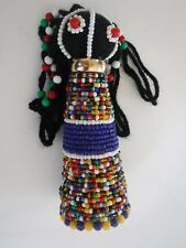 African Good Luck Fertility Doll Handmade Multicolored Beaded Ndebele