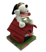 Peanuts Snoopy as WWI Flying Ace Musical Animated Plush on Doghouse