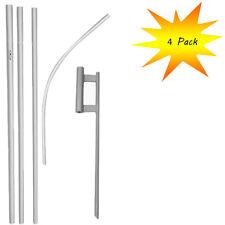 (4 Pack) 4.9m aluminio publicidad Swooper POLO WITH 76.2cm Púa para TIERRA JUEGO