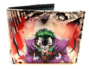 DC COMICS THE JOKER SUBLIMATED PRINT GRAPHIC PU FAUX LEATHER MENS BIFOLD WALLET