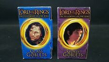 2 Lord of the Rings Fellowship Glass Goblets