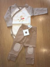 Baby Boy's Vest And Trousers Set - Brand New - 100% Organic Cotton - 6-12 months